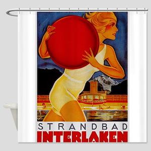 Interlaken Switzerland Travel Shower Curtain
