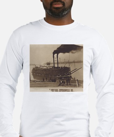 Mississippi River Landing Long Sleeve T-Shirt