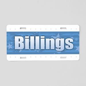 Billings Design Aluminum License Plate
