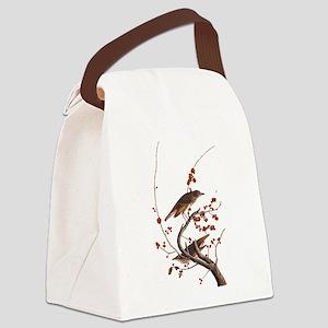 Hermit Thrush Vintage Audubon Art Canvas Lunch Bag