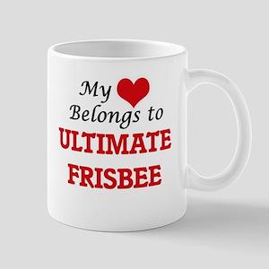 My heart belongs to Ultimate Frisbee Mugs