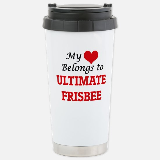 My heart belongs to Ult Stainless Steel Travel Mug