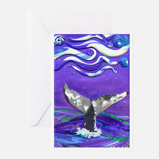 Whale Tail journal.jpg Greeting Cards