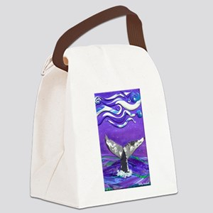 Whale Tail journal Canvas Lunch Bag