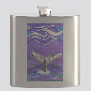Whale Tail journal Flask