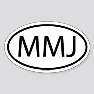 MMJ Oval Sticker