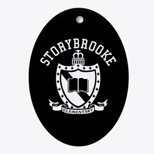 Storybrooke School Crest Oval Ornament