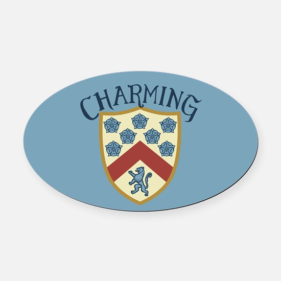 Prince Charming Shield Oval Car Magnet