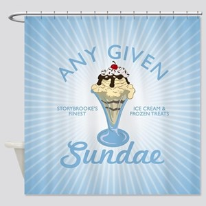 OUAT Any Given Sundae Shower Curtain