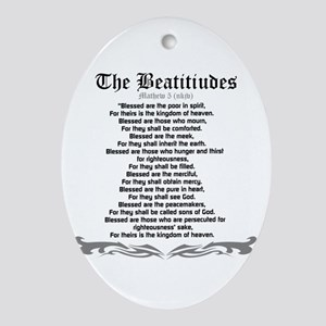 The Beatitudes- Mathew 5(NKJV) Oval Ornament
