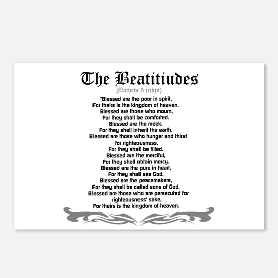 The Beatitudes- Mathew 5(NKJV) Postcards (Package