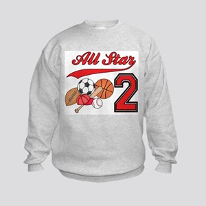 AllStar Sports 2nd Birthday Kids Sweatshirt