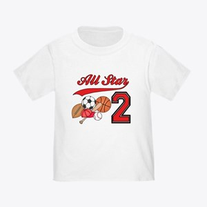 AllStar Sports 2nd Birthday Toddler T-Shirt