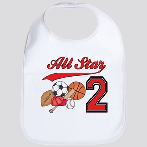 AllStar Sports 2nd Birthday Bib