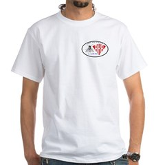 Double Fly White T-Shirt