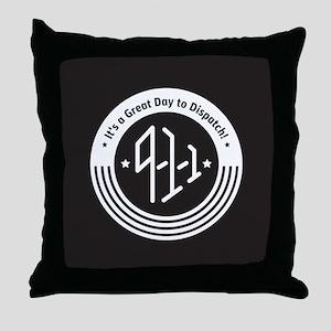 4Logo-911-black-inverse Throw Pillow