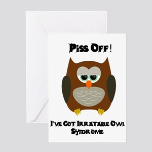 Funny owl sayings greeting cards cafepress owl humor greeting cards m4hsunfo