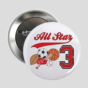 "AllStar Sports 3rd Birthday 2.25"" Button"