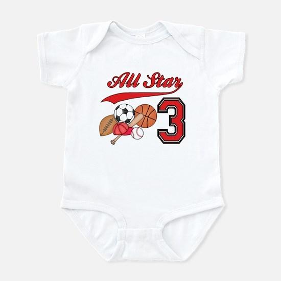 AllStar Sports 3rd Birthday Infant Bodysuit