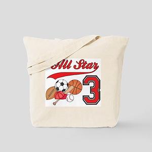 AllStar Sports 3rd Birthday Tote Bag