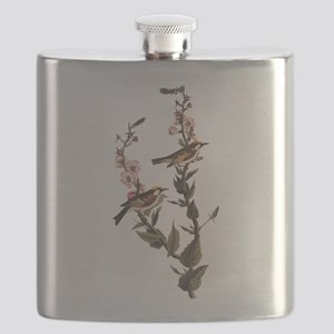 Chestnut Sided Warbler Vintage Audubon Art Flask