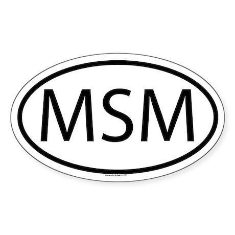 MSM Oval Sticker