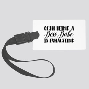 Exhausted Boss Babe Luggage Tag