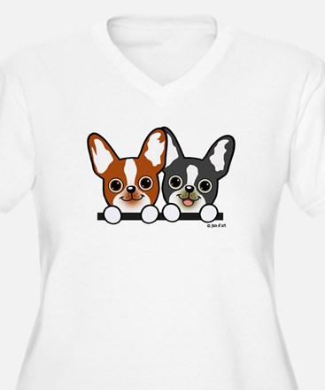 Cute Puppies Plus Size T-Shirt