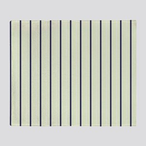 Classic Ticking Stripes by LH Throw Blanket