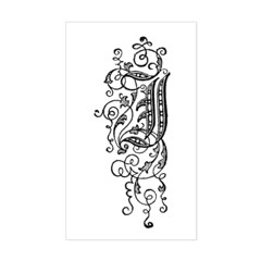 Letter J Rectangle Decal