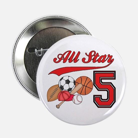 "AllStar Sports 5th Birthday 2.25"" Button"