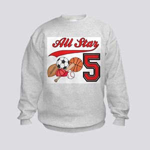 AllStar Sports 5th Birthday Kids Sweatshirt