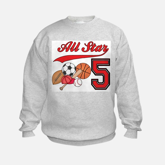 AllStar Sports 5th Birthday Sweatshirt