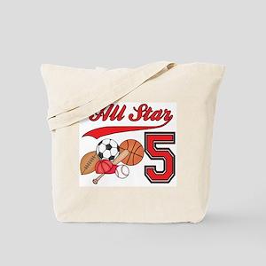 AllStar Sports 5th Birthday Tote Bag