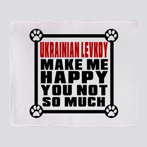 Ukrainian Levkoy Cat Make Me Happy Throw Blanket