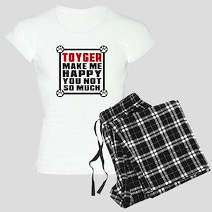 Toyger Cat Make Me Happy Women's Light Pajamas