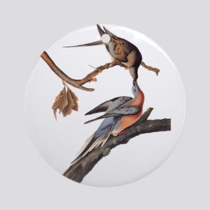 Passenger Pigeon Vintage Audubon Art Round Ornamen