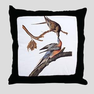 Passenger Pigeon Vintage Audubon Art Throw Pillow