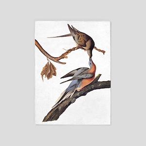 Passenger Pigeon Vintage Audubon Art 5'x7'Area Rug
