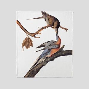 Passenger Pigeon Vintage Audubon Art Throw Blanket