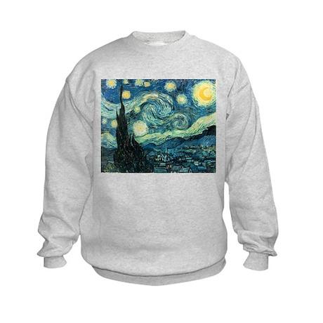 Vincent van Gogh's Starry Night Kids Sweatshirt