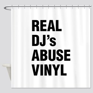 REAL DJs ABUSE VINYL Shower Curtain