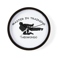 Taekwondo Master in Training Wall Clock