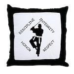 Karate Quips DIHR Throw Pillow