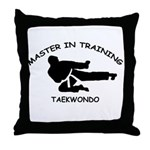 Taekwondo Master in Training Throw Pillow