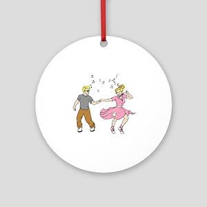 50's Dance Round Ornament