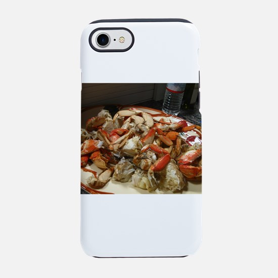cracked crab dinner close up iPhone 8/7 Tough Case