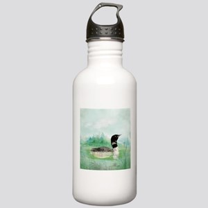 Watercolor Common Loon Stainless Water Bottle 1.0L