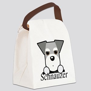 Schnauzer Puppy Canvas Lunch Bag