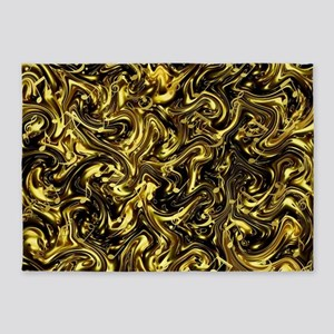 black and gold 5'x7'Area Rug